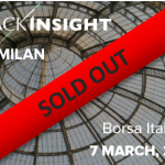 The TrackInsight Investor Summit Milan at the Borsa Italiana the 7 March 2017 is not sold out