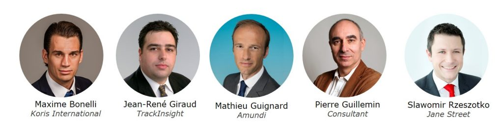 Maxime Bonelli - Koris International, Jean-René Giraud - TrackInsight, Mathieu Guignard - Amundi, Pierre Guillemin - Consultant and Slawomir Rzeszotko - Janes Street, speakers at the TrackInsight Investor Summit Geneva 2017, 15 May 2017